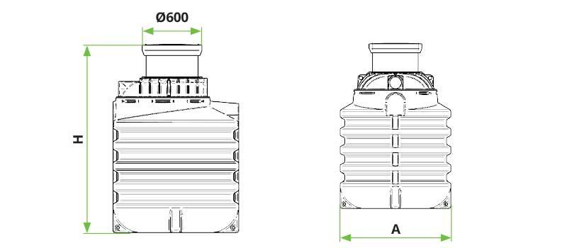 ROTO spremnik za vodu Rovoda dimenzije